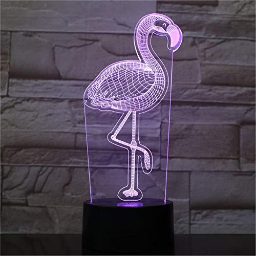 LBJZD nachtlicht 3D Nachtlicht Luminary Flamingo 3D Led Lampe Power Bank Leuchten Luminary Tischlampe Ohne Fernbedienung