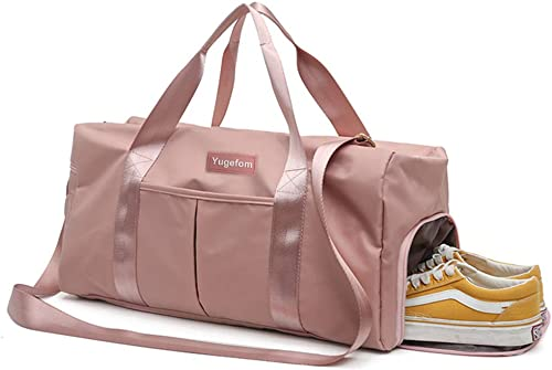 Yugefom Dry Wet Separated Gym Bag, Sport Gym Duffle Holdall Bag Training Handbag Yoga Bag Travel Overnight Weekend Sh...