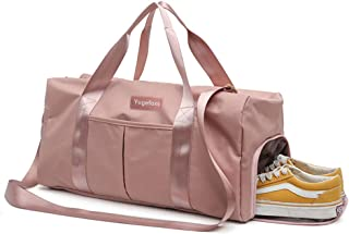 Yugefom Dry Wet Separated Gym Bag, Sport Gym Duffle Holdall Bag Training Handbag Yoga Bag Travel Overnight Weekend Shoulde...