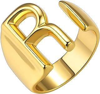 خاتم ذهبي عريض مخصص من جولد شيك للمجوهرات عبارة عن خاتم مفتوح قابل للتعديل للنساء لحفلات النساء | خاتم ختم للنساء | خواتم ...