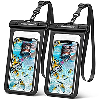 "Hiearcool Universal Waterproof Case,Waterproof Phone Pouch for iPhone 11 Pro Max XS Max XR X 8 7 6S Plus Samsung Galaxy s10/s9 Google Pixel 2 HTC Up to 7.0""?IPX8 Cellphone Dry Bag -2 Pack"