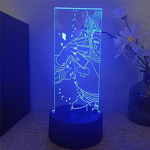 Luces 3D para niños Hunter X Hunter lámpara de noche para dormitorio 16 cambio de color lámpara de decoración - Regalo perfecto para niños y habitación decoración