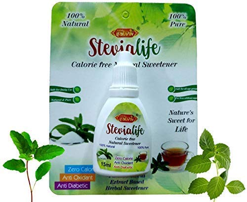 """Total Satvik Stevia Life Calorie Free Natural Sweetener purified Stevia extract based (15 ML, Not less than 60 Servings)""""10 Pieces Combo"""""""