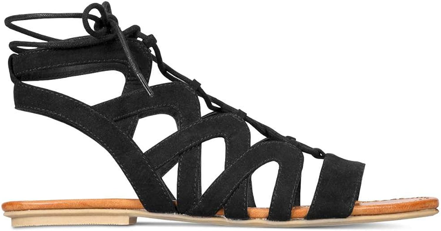 American Rag Womens Marlie Open Toe Casual Gladiator Sandals, Black, Size 7.0