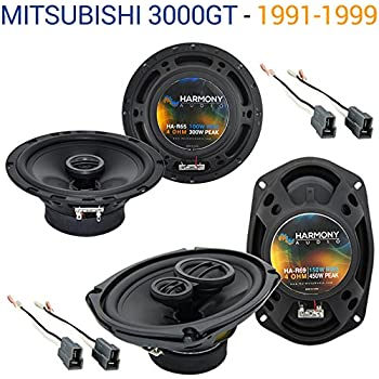 Compatible with Mitsubishi 3000GT 1991-1999 OEM Speaker Replacement Harmony R65 R69 Package