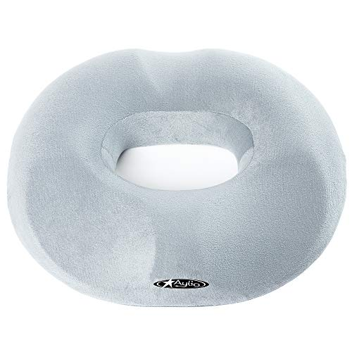 Aylio Firm Donut Pillow Seat Cushion for Hemorrhoids, Prostate Relief,...