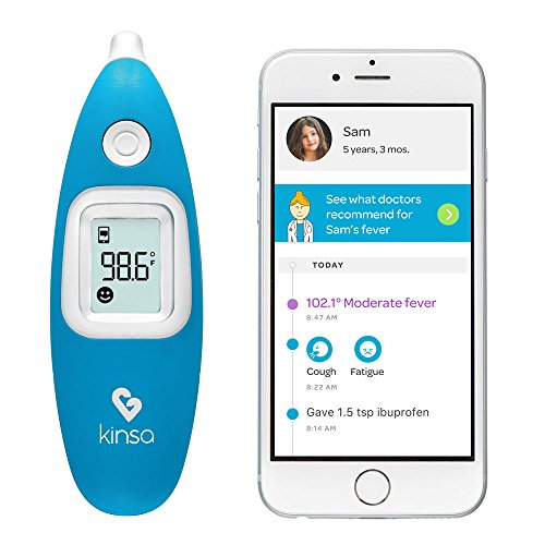Kinsa [Old Model] Smart Ear Thermometer for Fever - Accurate, Fast,...