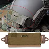 Estink- Tactical Helmat Bag,Tactical Helmet Balancing Weight Bag Helmet Counterweight NVG Pouch Counterbalance Weight Bag Tactical Helmet Accessory with Five Counter for OPS Fast BJ PJ MH(Brass)