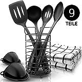 KRONENKRAFT Set de Cuisine 9 pièces - Ensemble de Cuisine de qualité supérieure - Ensemble de ustensiles de Cuisine - Tout ce Dont Vous Avez Besoin !