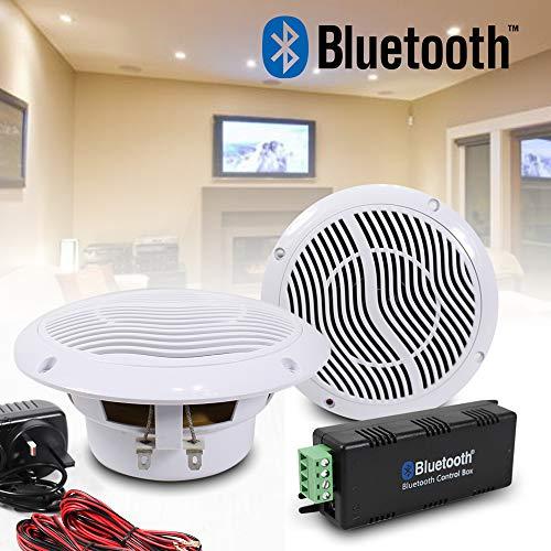 E-Audio - Juego de altavoces Bluetooth inalámbricos de techo para...