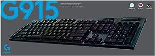 Logitech G915 LIGHTSPEED Wireless RGB Keyboard (Linear Silent), Bluetooth, LIGHTSYNC RGB, 5 Dedicated G-Keys Dedicated med...