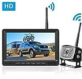 LeeKooLuu HD Digital Wireless Backup Camera 7''Monitor Highway...
