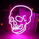 Letreros de neón de calavera Fantasma rosa Luz de neón led Gran...