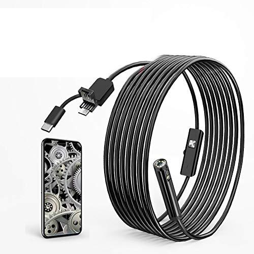 TYXS Cámara de inspección de Video endoscopio Impermeable de 8 mm endoscopio Industrial HD con 8 endoscopio Ligero LED Ajustable