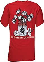 Southern Couture SC Comfort Mason Jar Cotton Womens Classic Fit T-Shirt - Red