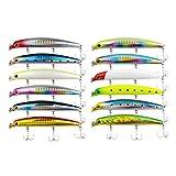 オルルド釣具 12cm 16g リップレスミノーB 12カラー セット(A+Bセット)qb100190c01n0