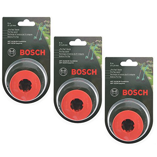 """Bosch \""""Pro-Tap\"""" Spule, 24 m, für Rasentrimmer, Originalteil, passend für Bosch ART 23/26/30 Combitrim, ART 23/26 Easytrim - F016800175"""