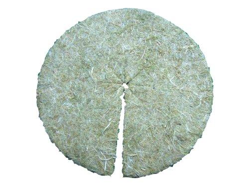 Mulchscheiben aus Hanf/Jutefasern, 100er Pack, Durchmesser: 18,5 cm, 5 mm dick (EUR 0,35 je Stück), Pflanzenschutzmatte, Unkrautschutzmatte, Winterschutzmatte, 100% biologisch abbaubar, nachhaltig
