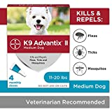 K9 Advantix II Flea and Tick Prevention for Medium Dogs 4-Pack, 11-20 Pounds