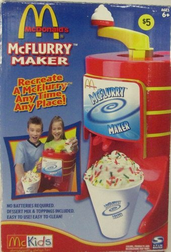 Vintage McDonald's McFlurry Maker - Spinmaster - USA Today Toy Of The Year 2003