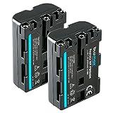 Blumax 2X Akku NP-FM500H (2000mAh) | für Sony Kamera Alpha DSLR/SLT Serie EVO II a57 a58 a68 a77/ ii a99 / ii Batterie | 7,4V 14,8Wh