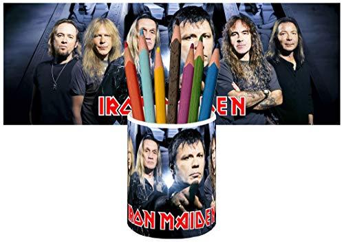 Iron Maiden Bruce Dickinson Steve Harris Portalápices Vaso Cerámica