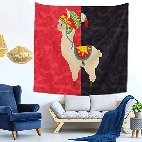 ZQOPMVL Peruvian Llama Tapestry Wall Hanging Living Room Wall Decor Colorful Wall Tapestry for Dorm Bedroom Living Room College Nails for Men Women Boys Girls