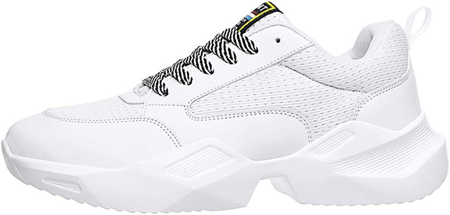 Lazy Sets Of Feet Casual shoes Female Woven Net Korean Sports shoes shoes Cricket shoes (color   White, Size   44)