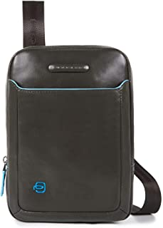 Piquadro Organized Shoulder Pocketbook with Ipadmini/ipadmini3 Compartment, Black