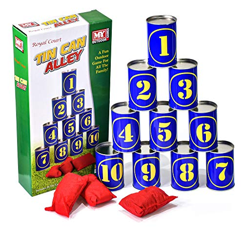 M.Y Tin Can Alley Family Garden Games   Outdoor Bean Bag Throwing Party Games for Kids & Adults