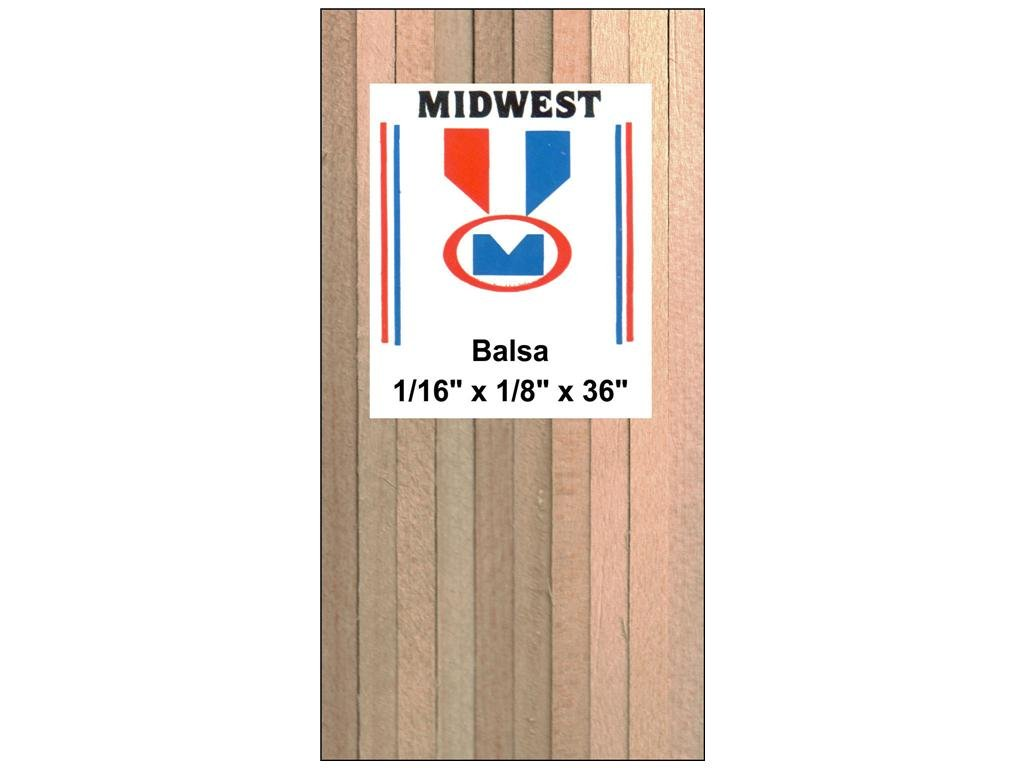 Midwest Balsa 3//16 x 3 x 36 MID6305 10