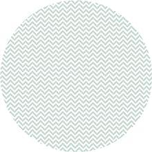 Deco&Fun - Alfombra Vinílica Redonda Zigzag Verde Menta Mint 50x50cm - Alfombra PVC Alfombra vinílica Cocina- Alfombra vinílica salón - Alfombras de Vinilo- Alfombra Redonda