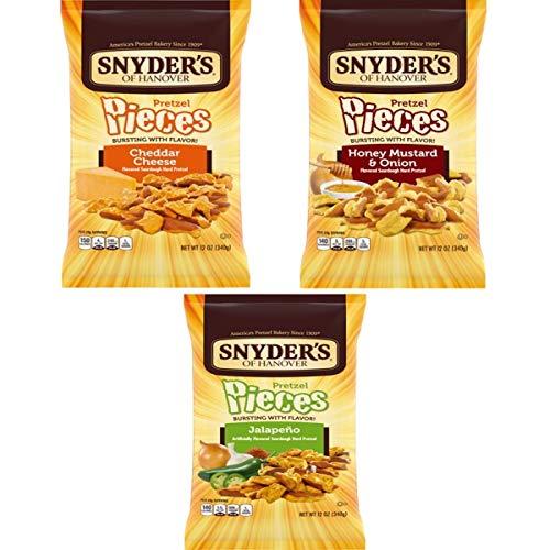 スナイダーズ チェダーチーズ ハニーマスタードオニオン ハラペーニョ 大袋 340g 各1袋(合計3袋セット)
