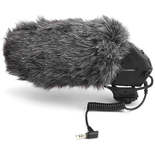 Mxzzand Micrófono de Video de cámara Profesional Micrófono de Video direccional con...
