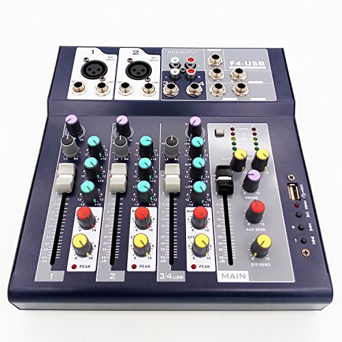 professional Professional Mixer Weymic | 4-channel 2-bus mixer with 48V phantom power input…