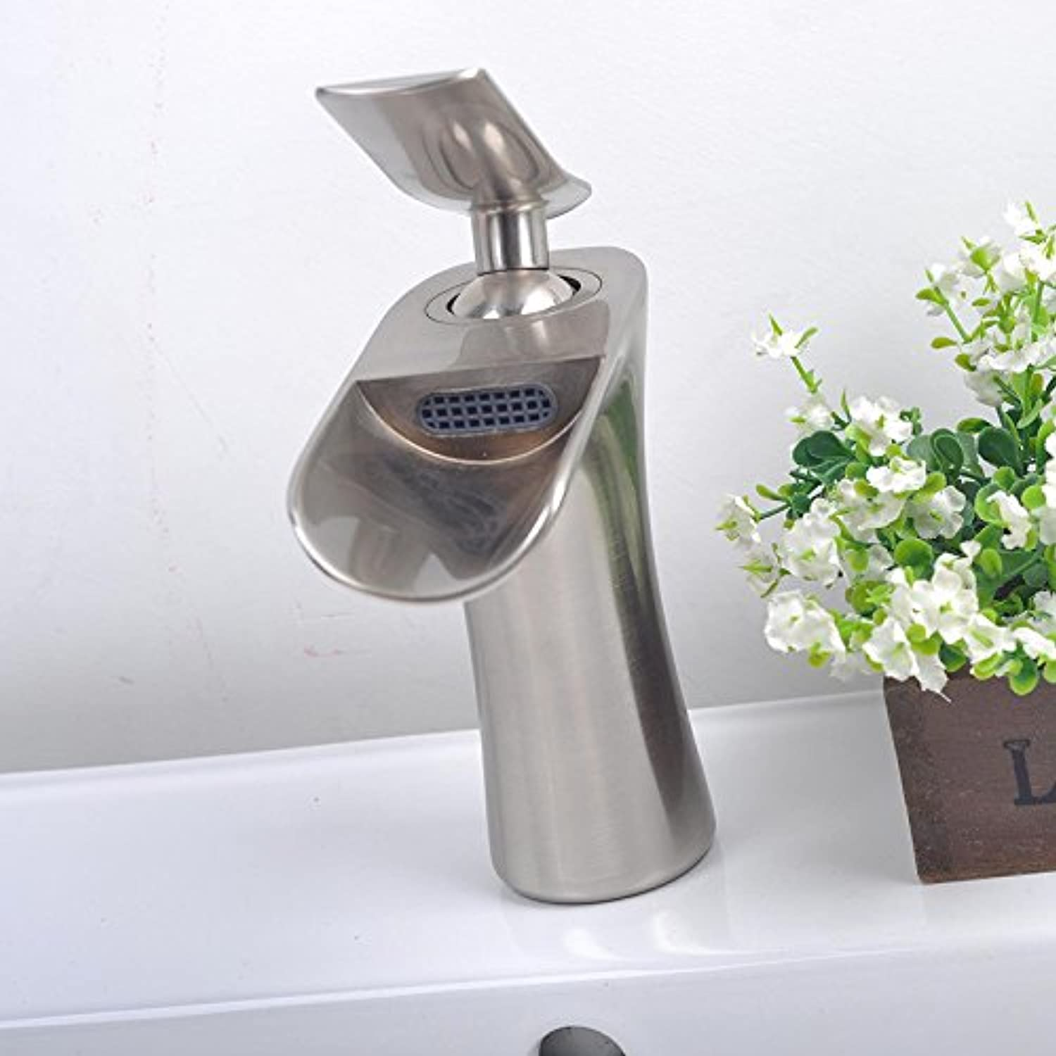 SLoogt Single-connected waterfall basin faucet safety and environmental predection water-saving lifting mixer