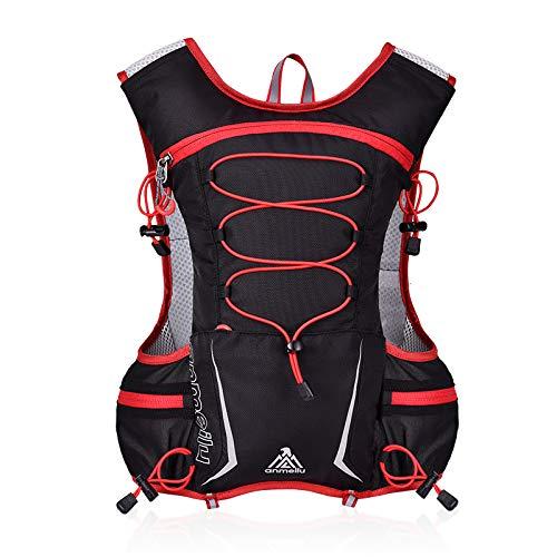 GemCoo Zaino Running 5L Ultraleggero Gilet Running Zaino da Idratazione per Ciclismo Corsa Escursionismo,Marathoner Corsa Race Estern