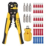 Proster TL601SAN Crimper Automatic Stripper Kit with Multi-Function Screwdriver Mini Hand Repair 30 PCS Cable...