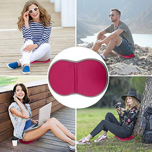 SANGSHI Colchoneta plegable de camping, cojín de asiento para exterior, camping, senderismo, portátil, almohadilla de gel suave para exterior, pesca, picnic, barbacoa