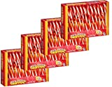 Red Hots Original Hard Cinnamon Candy Canes 6 oz. 12 Ct for Christmas - Pack of 4 (Red Hot)