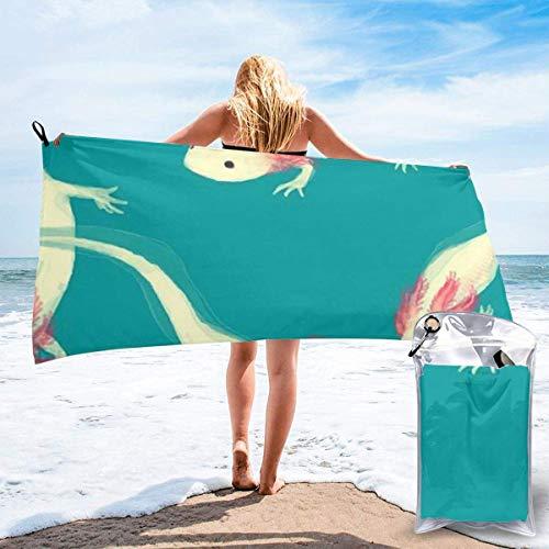 Toalla de Playa para Mujer, Toalla de Microfibra para Piscina para Grils, Bonitas Toallas de Secado rápido para Viajes al Aire Libre para Amantes del ajolote