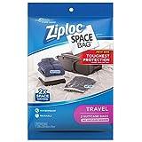 Ziploc Space Bags, Travel Bag for Suitcase, Organization, Storage, Reusable, Waterproof Bag, Pack of 2