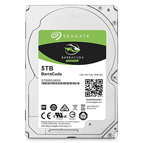 Seagate BarraCuda 5TB Internal Hard Drive HDD  2.5 Inch SATA 6Gb/s 5400 RPM 128MB Cache for Computer Desktop PC (ST5000LM000)