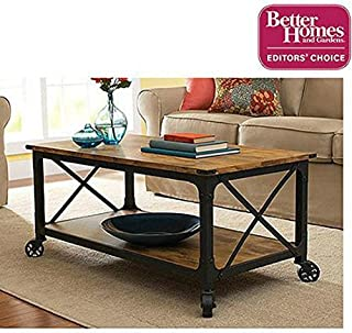 Supernon Better Homes and Gardens Rustic Country Coffee Table, Antiqued Black/Pine Finish by Better Homes & Gardens