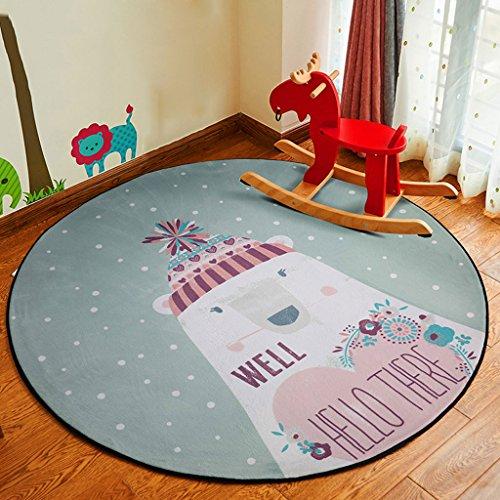 Good thing tapis Ronde Tapis de Bande Dessinée Enfants Couverture Salon Chambre Chambre Chevet Tapis Suspendus Panier Chaise D'ordinateur Mat (taille : Diameter 80cm)