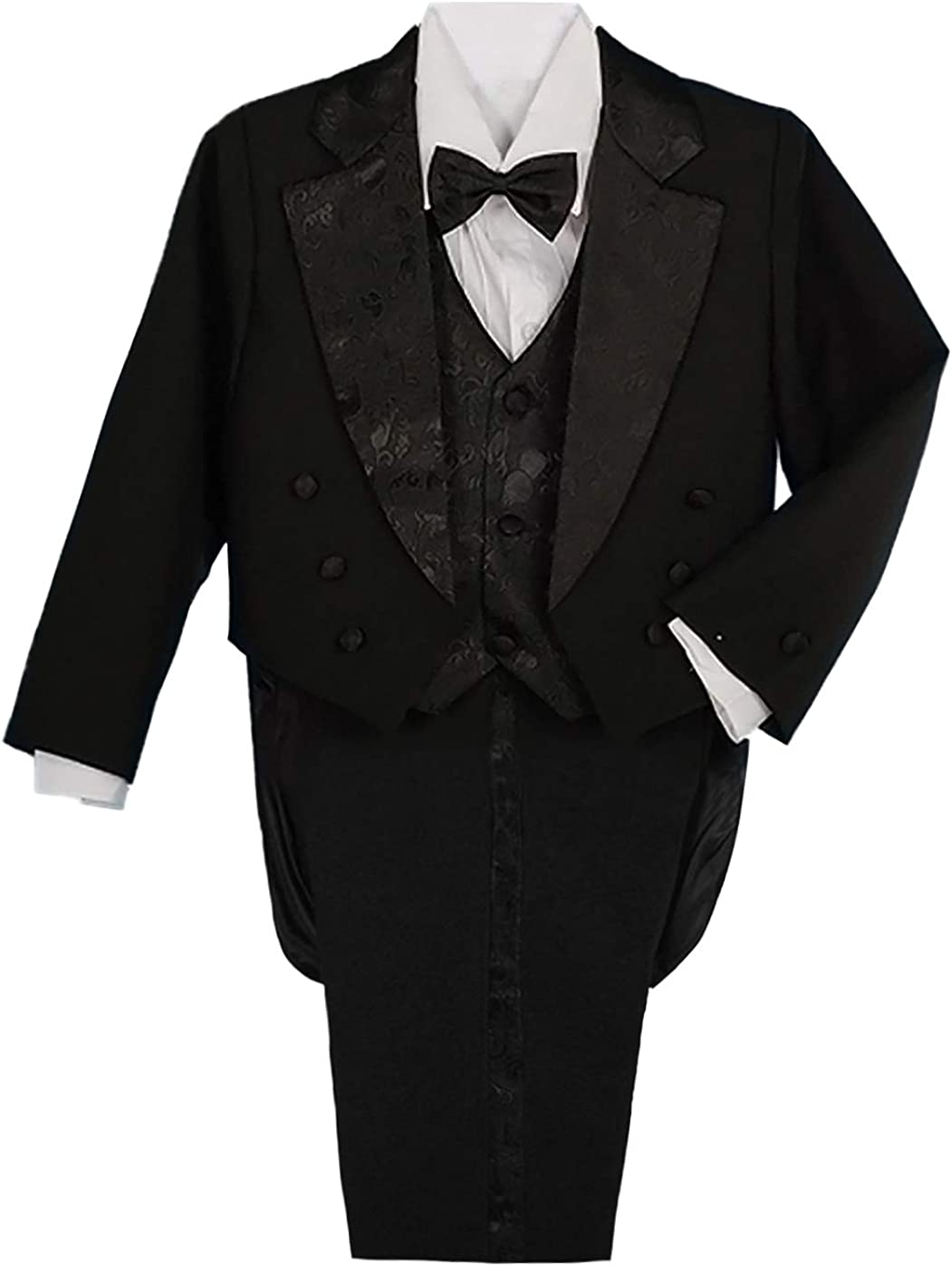 Lito Angels Boys' Charlotte Mall Classic Tuxedo Wedding Tail Suits Popular standard Formal with