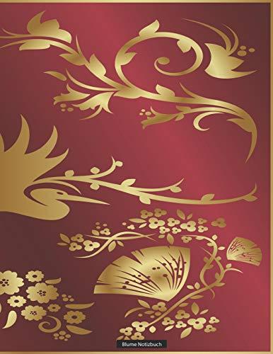 """Blume Notizbuch: Din A4 150 Seiten - """"BL044"""" (mit Inhaltsverzeichnis, liniert mit Rand, Seiten numeriert, mattes Vintage Softcover- Notizheft, ... Rezeptebuch, Schreibheft) (German Edition)"""