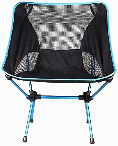 Chaises pliantes Nouvelle chaise pliante portable Légère Chaise de pêche Siège Tabouret Pêche Camping Randonnée pédestre Chaise de plage (Couleur   bleu)