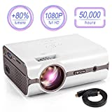 CRENOVA XPE496 Mini Projector, Full HD 1080P and 170'' Display Supported, Portable Mini Video...