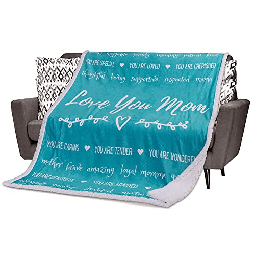 Mom Blanket Mother Gifts for Christmas - from Daughter, Son. Mom...